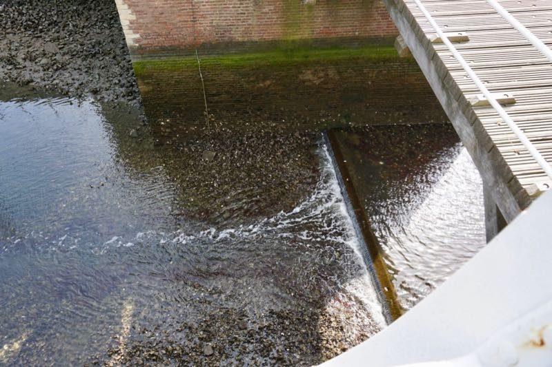 De drempel voor de Museumhaven van Zierikzee