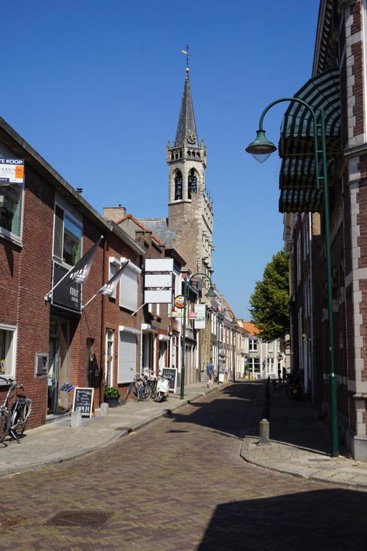 Het carillon in de toren van het oude stadhuis van Tholen
