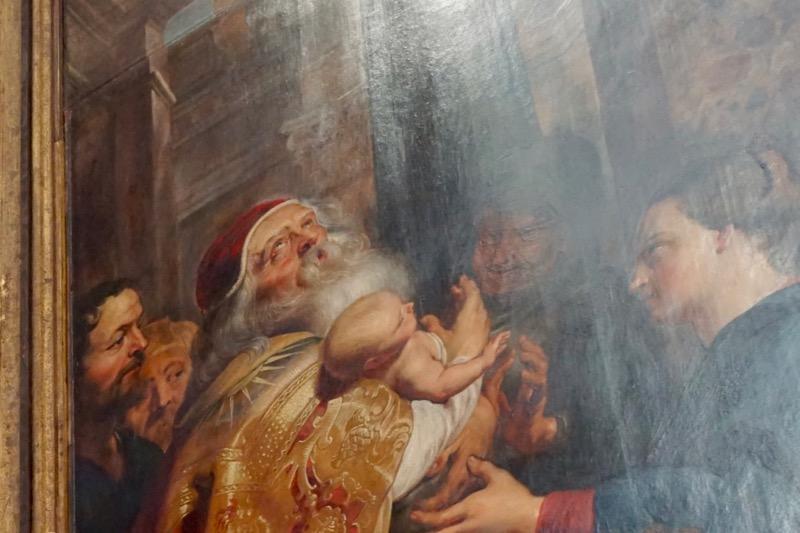 Detail in een schilderij van Peter Paul Rubens