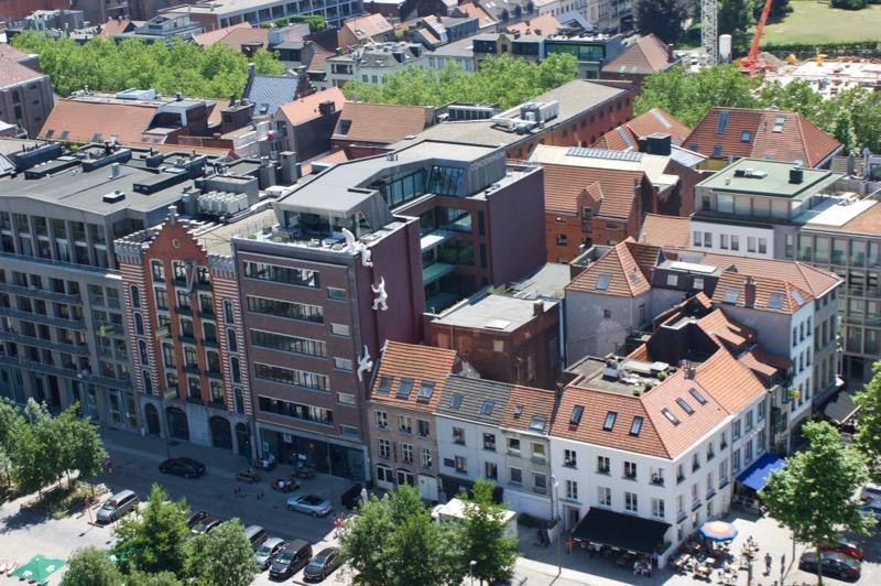 De Godefriduskaai vanaf het MAS in Antwerpen