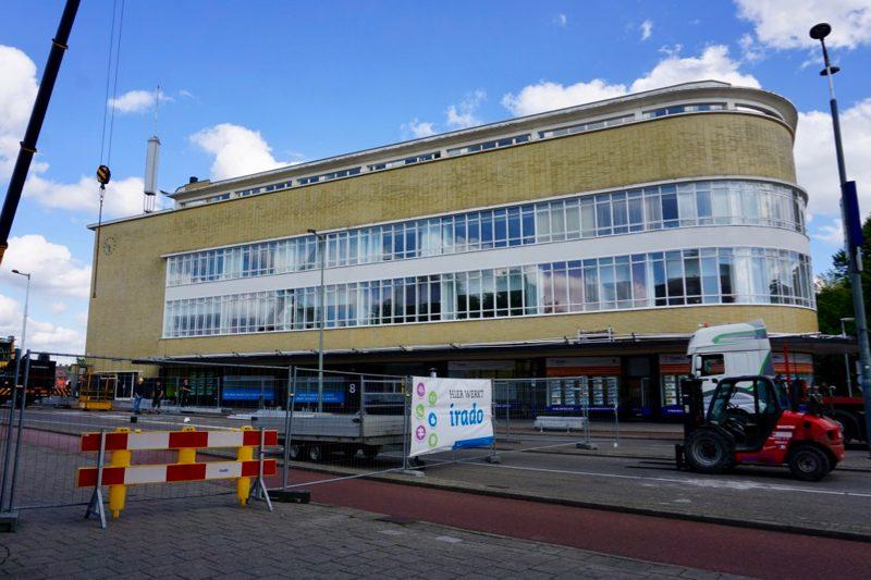 Het gebouw van de Hollandse Algemeene Verzekeringsbank in Schiedam ontworpen door architect Willem Marinus Dudok