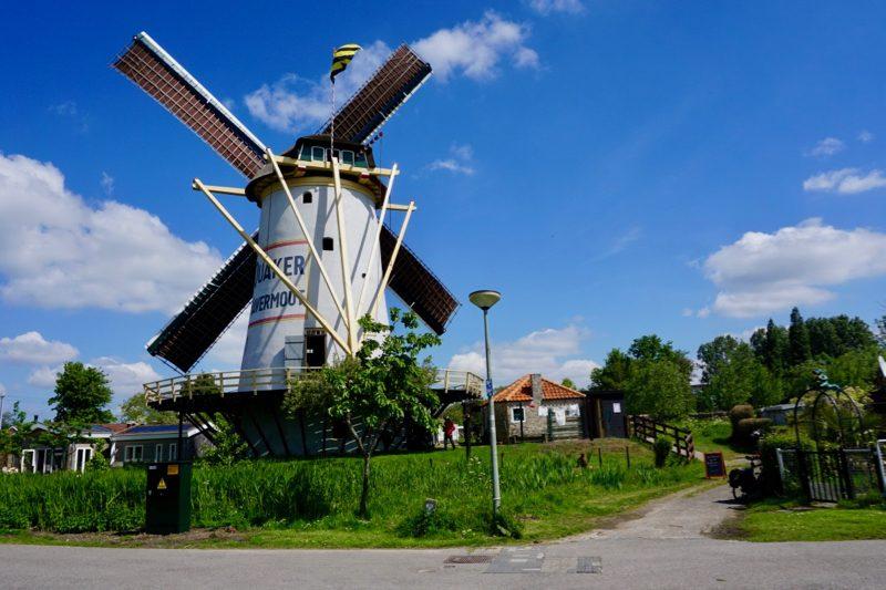 De Babbersmolen gelegen aan de Poldervaart in Schiedam is de oudste nog bestaande stenen poldermolen van Nederland