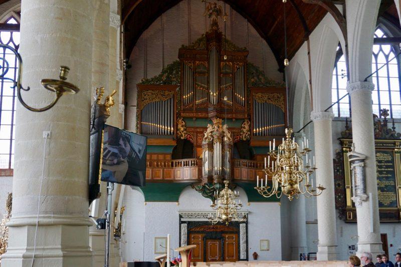 Het monumentale orgel in de Grote- of Sint Janskerk van Schiedam