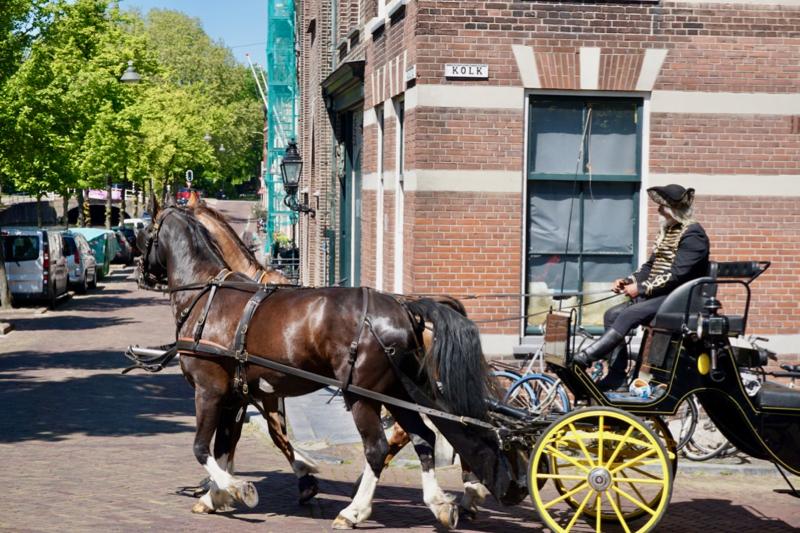 Met een rijtuig door het historische centrum van Delft
