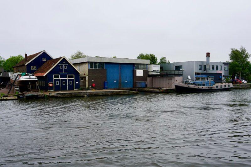De Scheepswerf van Falcon aan de Oude Rijn bij Alphen