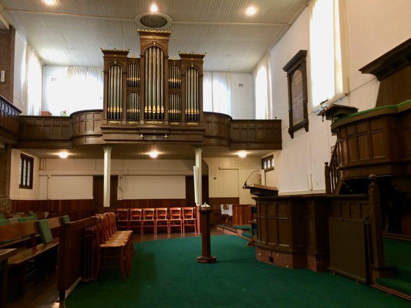Het interieur van de Plantagekerk in Schiedam