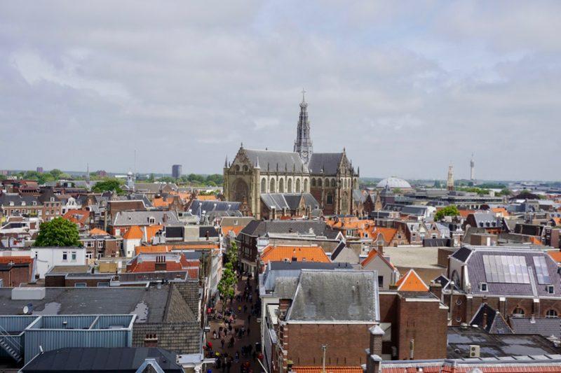 Overzicht van het centrum van Haarlem