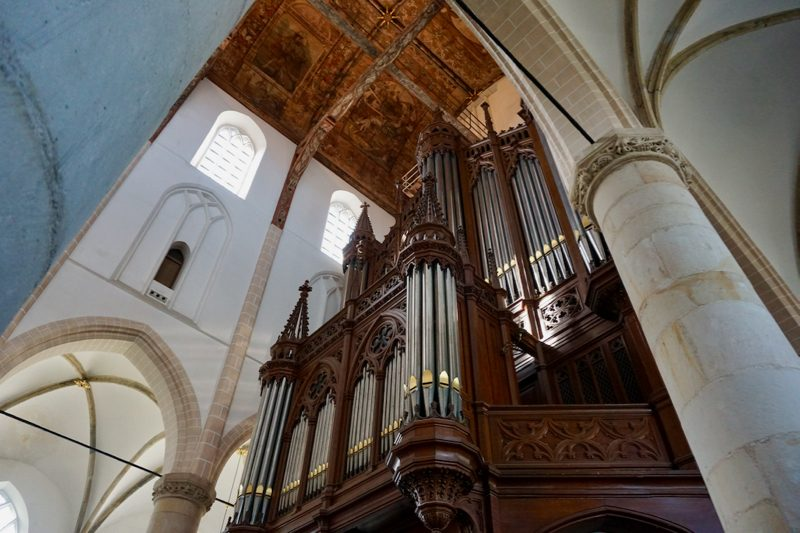 Het hoofdorgel van de Grote- of St.Vituskerk van Naarden