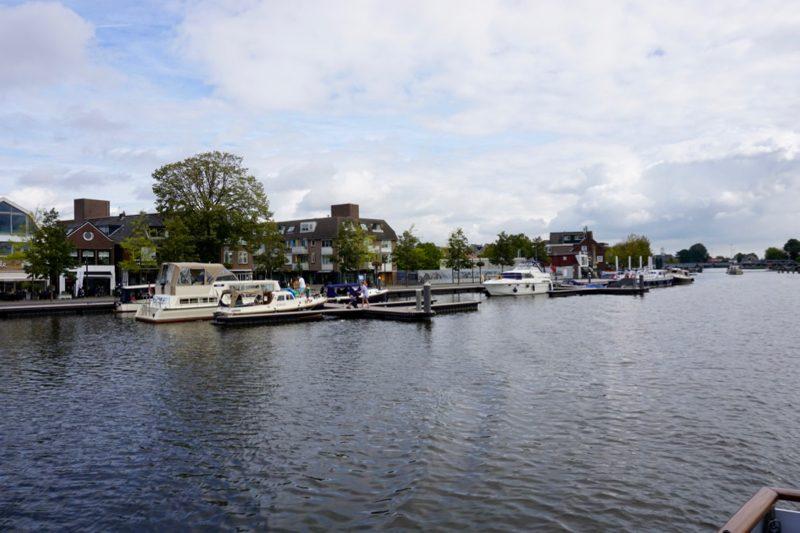 De havenplaatsen voor de pleziervaart in Uithoorn