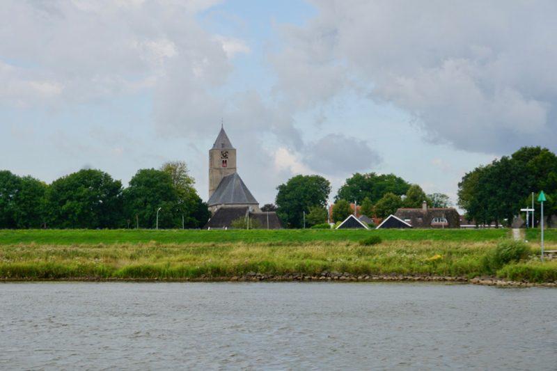 Het plaatsje Zalk aan de Gelderse IJssel